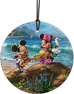Trend Setters Thomas Kinkade Disney Mickey Minnie Hawaii Starfire Prints Hanging Glass