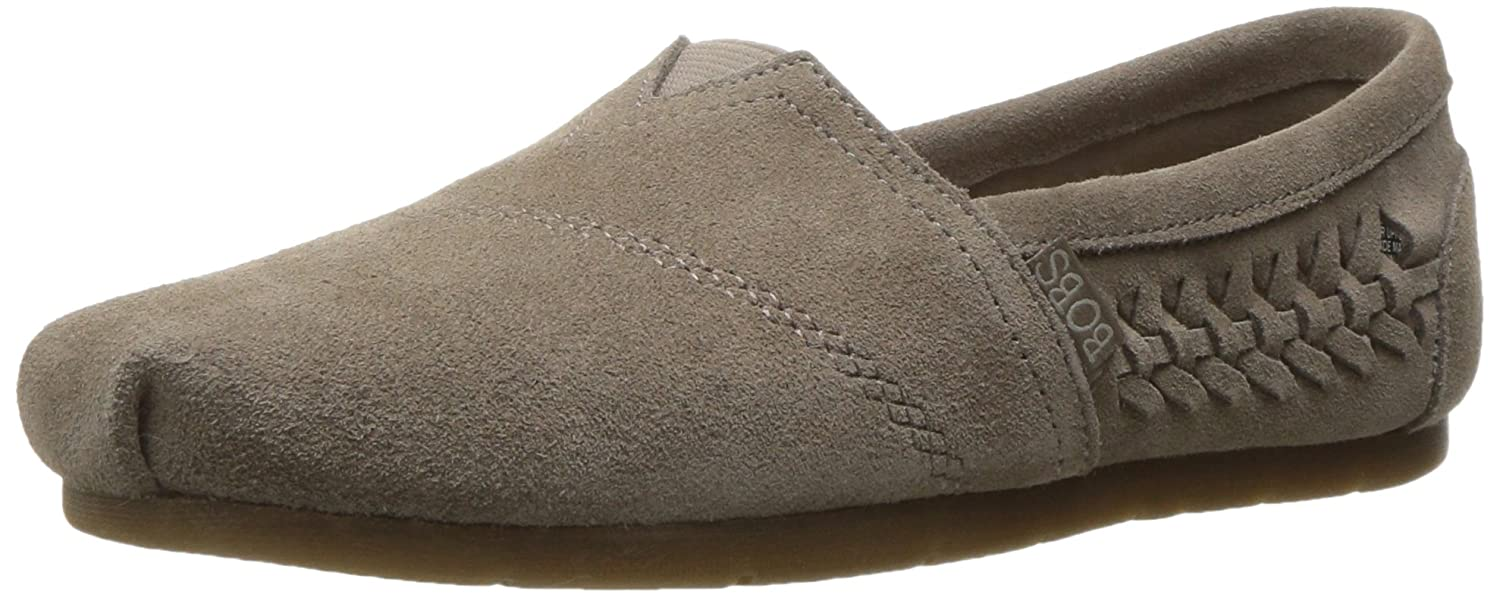 BOBS from Skechers Women's Luxe Bobs Boho Crown Flat, Taupe