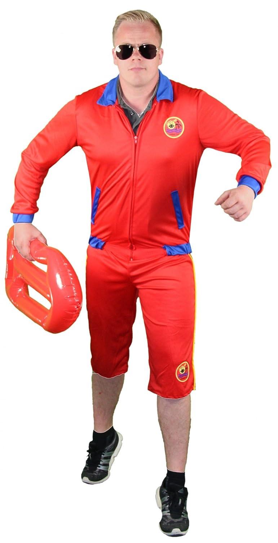 Foxxeo 40248 I socorrista Disfraz para Hombre Bademeister Rojo Señor Disfraz Lifeguard M de XL: Amazon.es: Juguetes y juegos