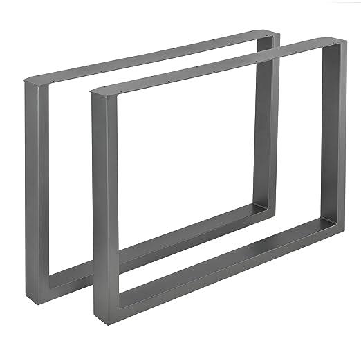 en.casa]®] 2 x Conjunto de Patas de Mesa - Set de 2X Patas de Mesa -
