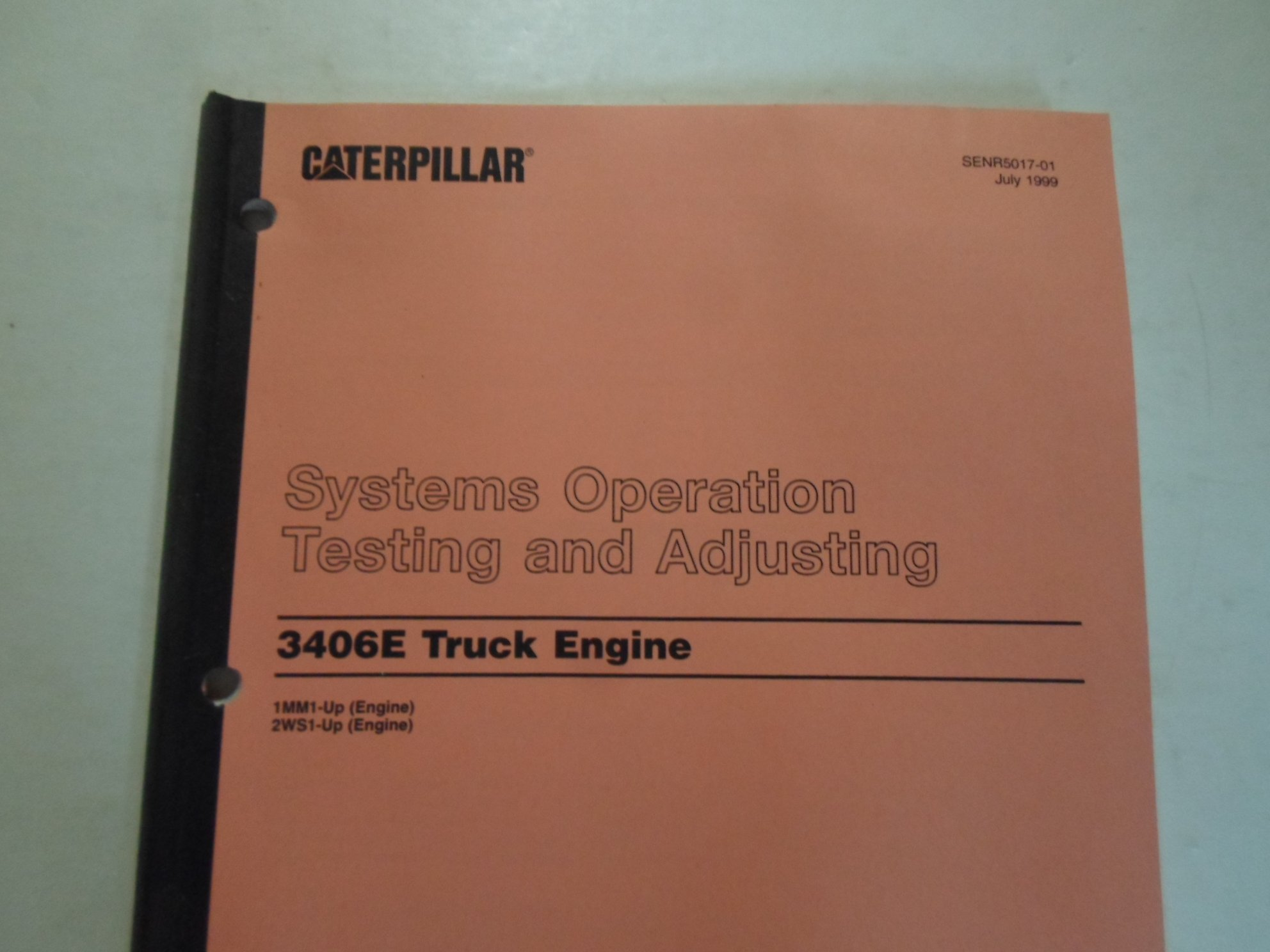 1999 Caterpillar 3406E Truck Engine Systems Operation Testing