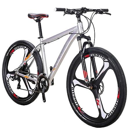 smayer Bicicleta de montaña 21 velocidades 3 radios 29 Pulgadas ...