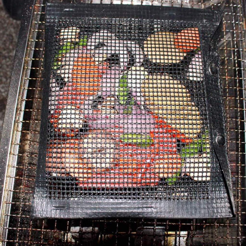 PETSOLA 3 St/ück BBQ Grill Mesh Bag Antihaft Mesh Grilling Bag F/ür Das Kochen Im Freien