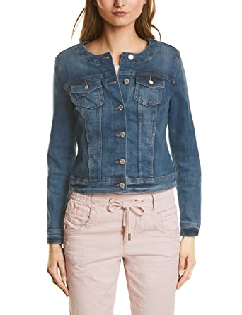Street One Damen Jeansjacke 210675 Rose, Blau (Authentic Indigo Blue Wash  11327), a05fc4b366