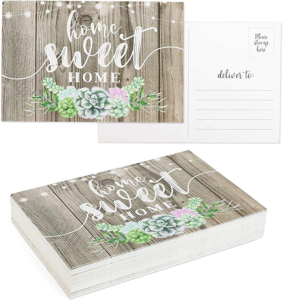 Rustic Home Sweet Home Postcard Set (6 x 4 In, 48 Pack)