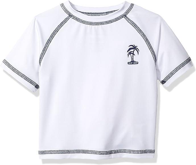 12M Navy iXtreme Boys Baby Palm Tree Infant Rash Guard