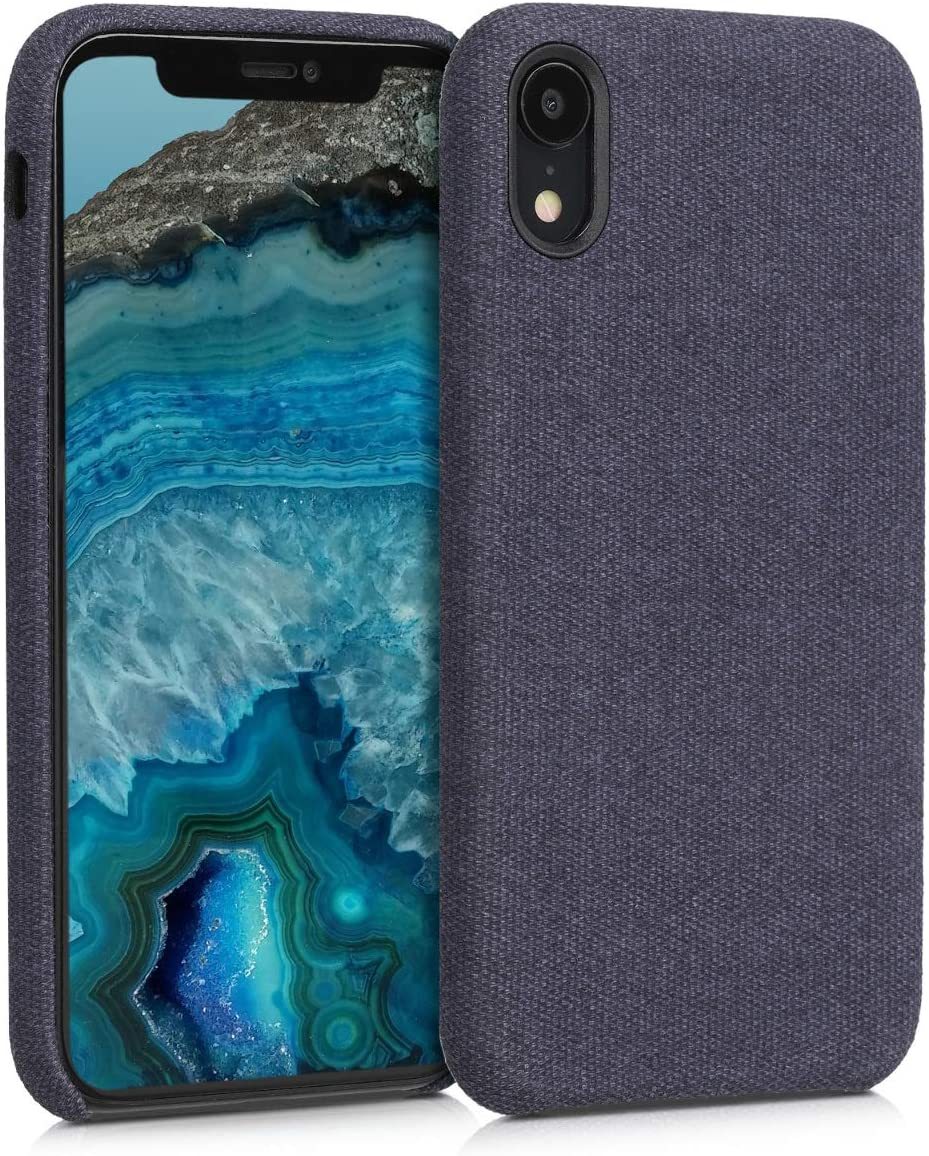 kwmobile TPU Case Compatible with Apple iPhone XR - TPU and Fabric Smartphone Cell Phone Cover in Canvas