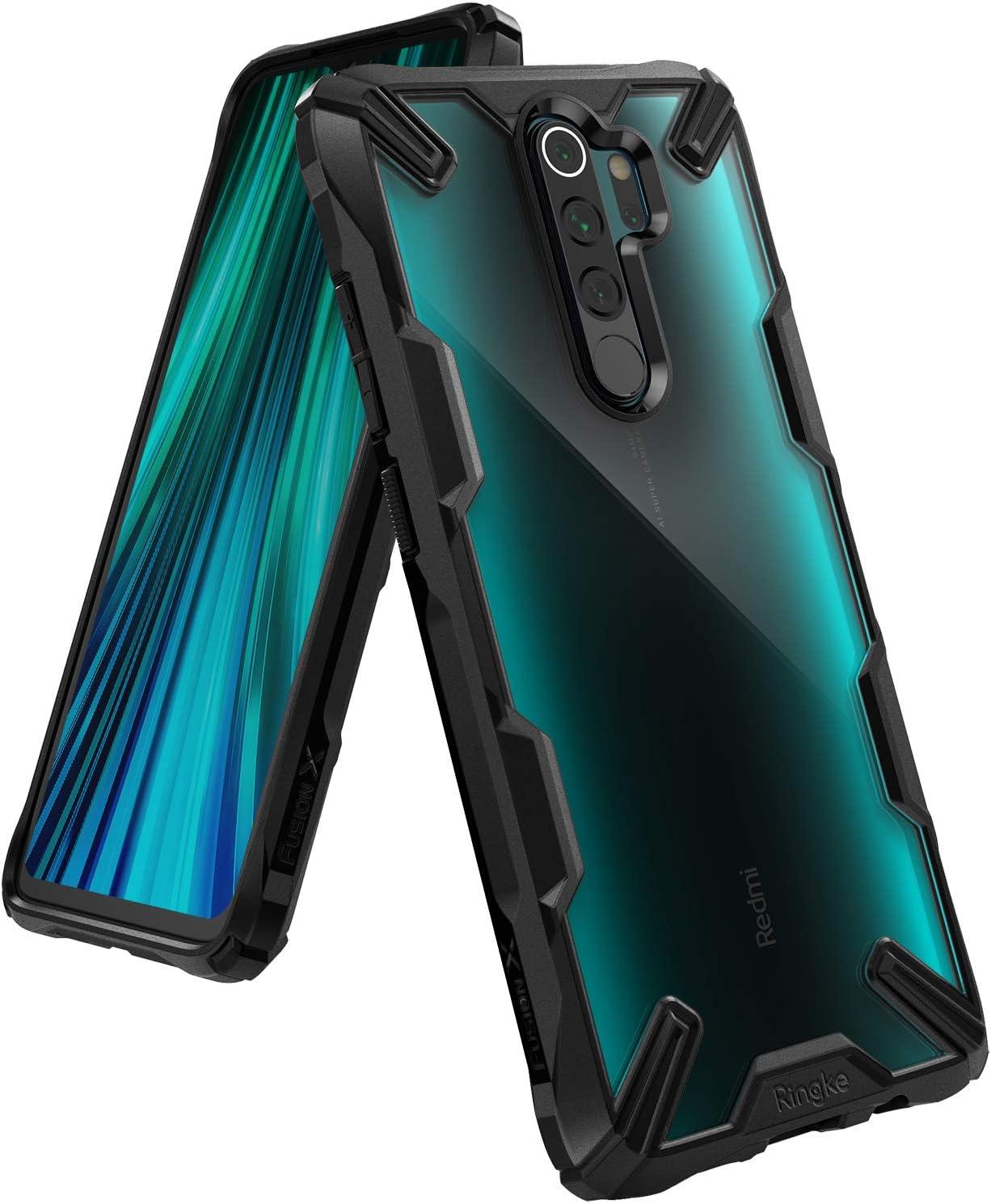 Ringke Fusion-X Diseñado para Funda Xiaomi Redmi Note 8 Pro, Transparente al Dorso Carcasa Redmi Note 8 Pro 6.53