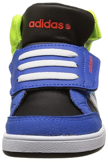 e56a7614bf686 Adidas neo - Hoops mid baby velvro - Chaussures mid mi montantes - Bleu  moyen - Taille 24  Amazon.fr  Chaussures et Sacs