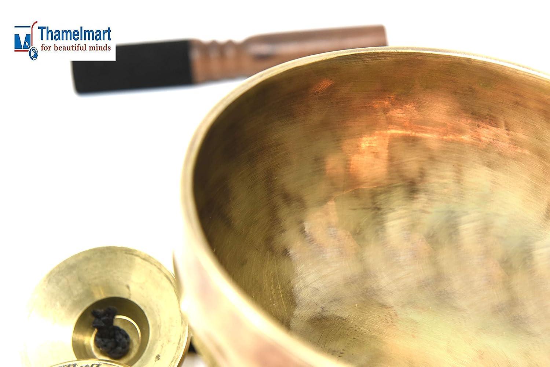 fatta a mano in Nepal Splendida campana tibetana da 20,32 cm di diametro per il chakra del plesso solare e per la meditazione