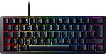 Razer Huntsman Mini (Purple Switch) – Teclado Compacto 60% para Gaming con interruptores opto-mecánicos (PBT, Cable USB-C extraíble) QWERTZ | ...