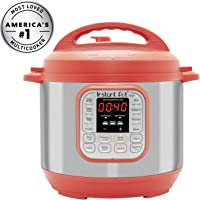 Instant Pot Duo RED 60 120V-60Hz 7-in-1 Multi-Use Programmable Rice Cooker