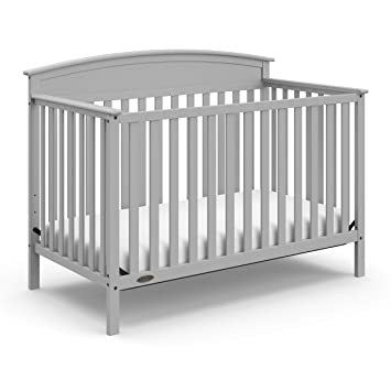 Amazon Com Graco Benton 4 In 1 Convertible Crib Pebble Gray Solid Pine And Wood Product Construction Converts To Toddler Bed Day Bed And Full Size Bed Mattress Not Included Furniture Decor