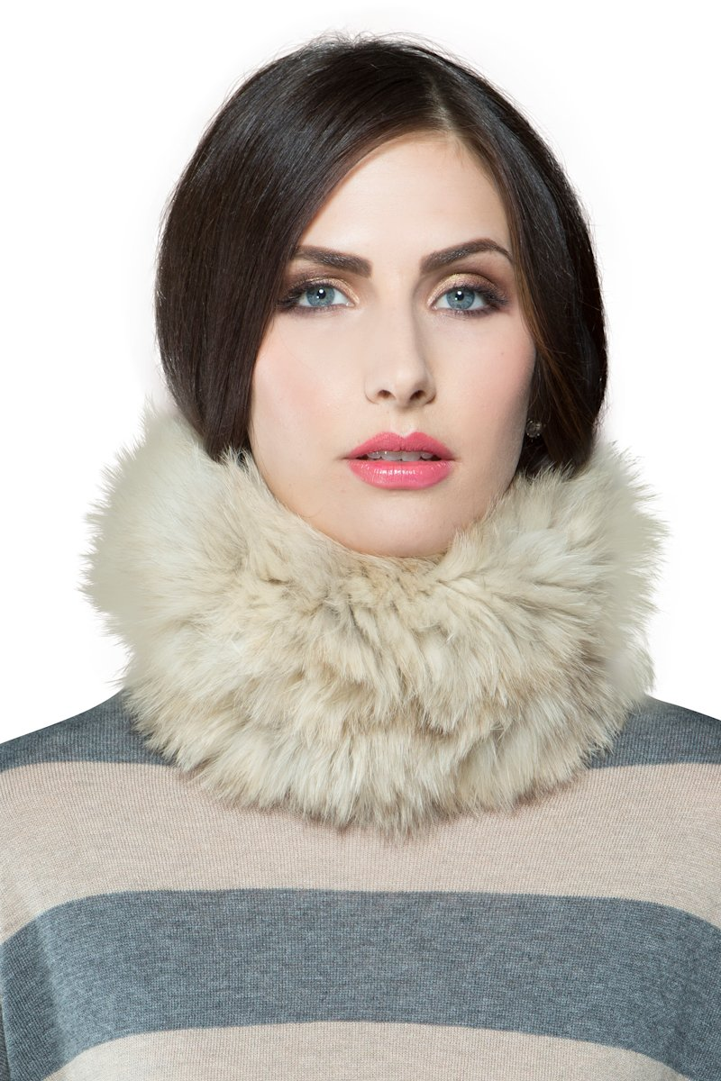 Glamourpuss NYC Women's The Lioness' Natural Fur Funnel