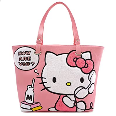 2806200d8 Amazon.com: Loungefly Hello Kitty Telephone Tote Bag: Shoes