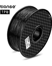 Nero filamento TPU per stampanti 3D, 1,75 mm, precisione dimensionale +/- 0,03 mm (2,2 lbs.)