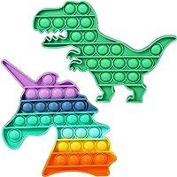 العاب مقاومة للملل على شكل ديناصور بنمط يونيكورن والوان قوس قزح واصوات فرقعة من هاي يونيكورن، هدية للاولاد، العاب ضغط…