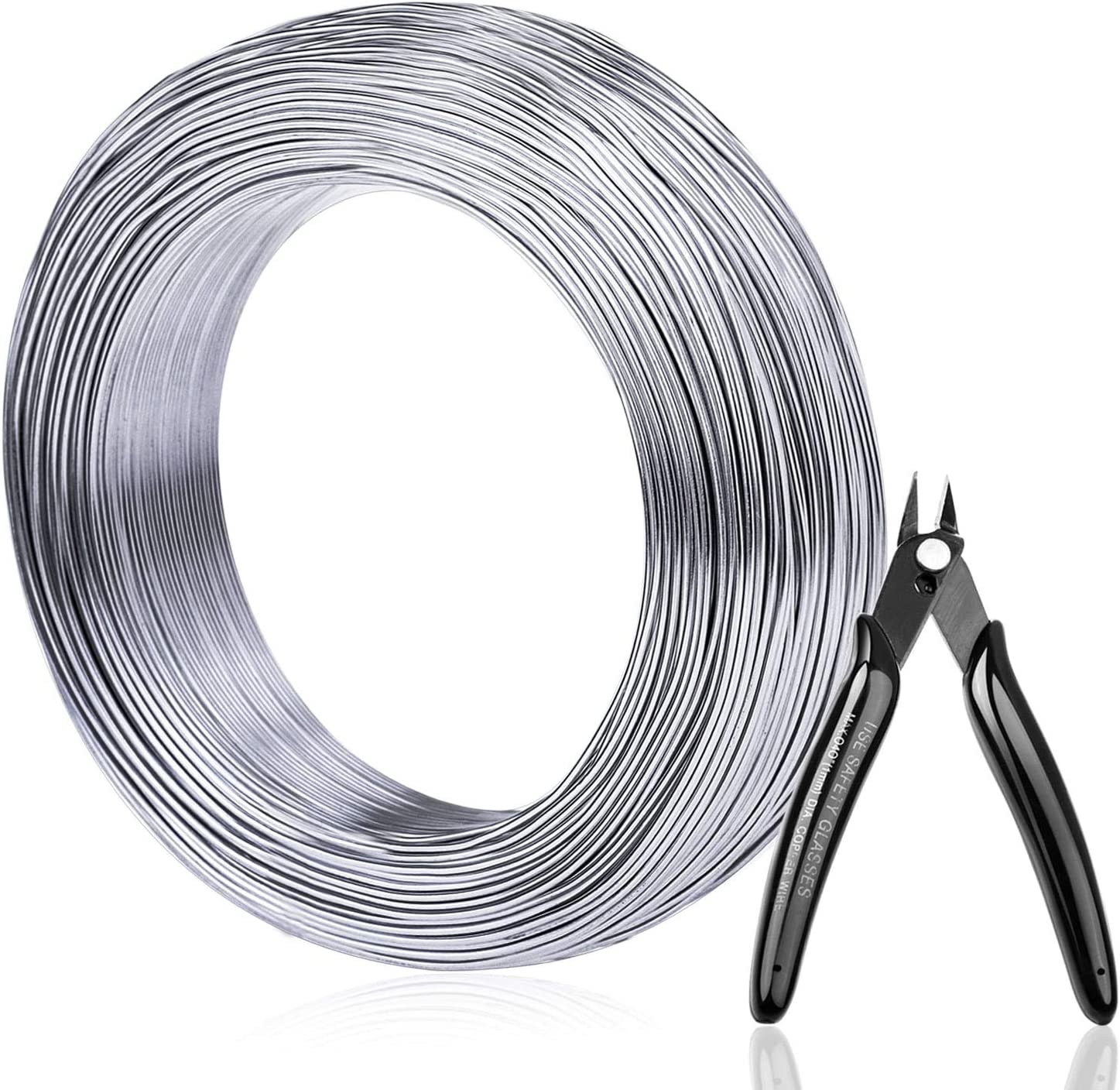 Aluminum Wire, Anezus 18 Gauge 328 FT Metal Wire Bendable Sculpting Aluminum Wire 1mm for Crafts Jewelry Making Beading Floral (Silver)