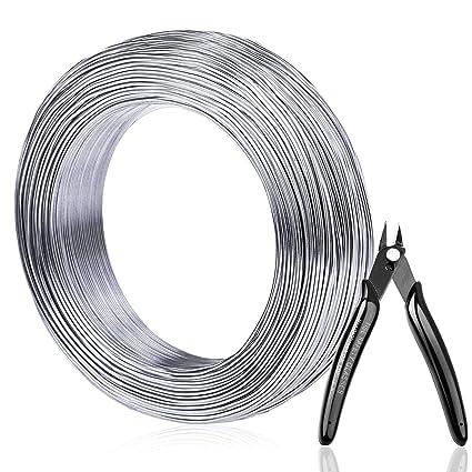 Amazon.com: Alambre de aluminio, Anezus calibre 18, 328 pies ...