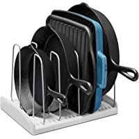 YouCopia StoreMore Cookware Rack Adjustable Pan Organizer, White