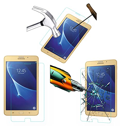 Acm Tempered Glass Screenguard Compatible with Samsung Galaxy J Max Tablet Screen Guard Scratch Protector Screen Protectors