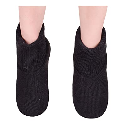 ed122f07c Winter Cable Knit Slippers Mens Non Slip Slipper Socks Shoes For