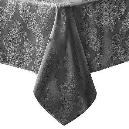 05628b7505a1 Amazon.com  Newbridge Barcelona Luxury Damask Fabric Tablecloth