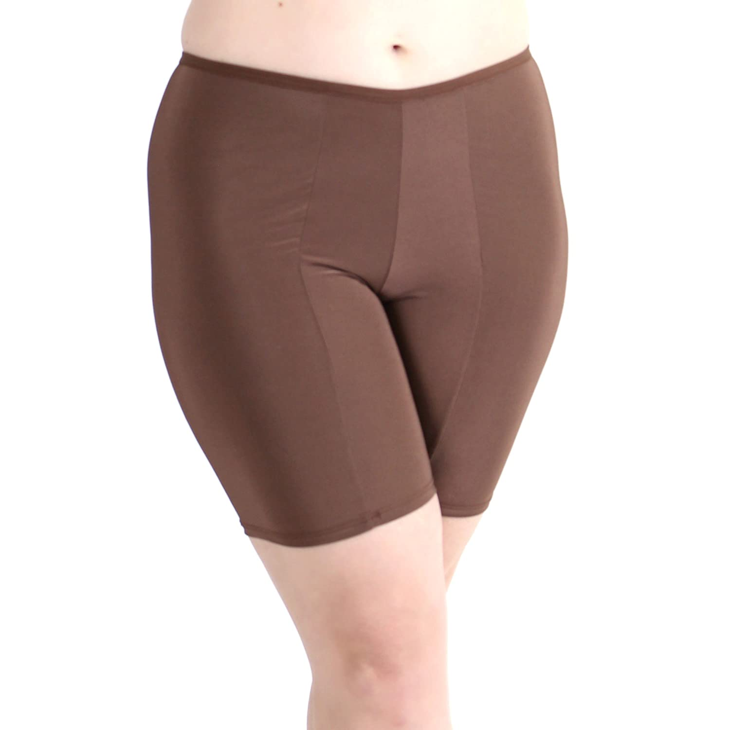 Prevent Thigh Chafing with Stay-Put Mid-Thigh Length Undersummers Womens Ultrasoft Classic Slip Shorts S-4X