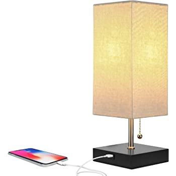 Aukey Lt T6 Table Touch Sensor Bedside Lamps Dimmable