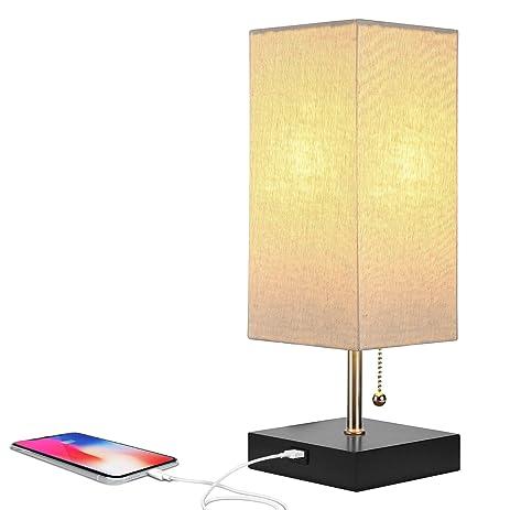 Brightech Grace LED USB Bedside Table & Desk Lamp - Modern Lamp ...