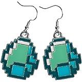 Minecraft Diamond Ore Pendant Earrings