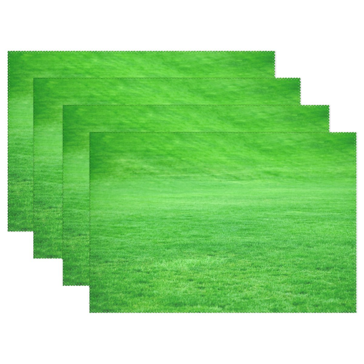 RH Studio Grass Lawn Green耐熱テーブルPlacemats Set of 4 Stain Resistantテーブルマット洗濯可能食べマットホームディナー装飾   B07D8Y4ZB2