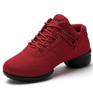 Kotzeb Zapatillas de Baile Deportivos Danza Jazz Elegante para Mujeres Zapatos Suela Blanda Lace up Negro Rosado Rojo Blanco 35-41: Amazon.es: Deportes y ...