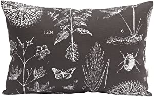 "TangDepot 100% Cotton Nature Theme Throw Pillow Covers, Cushion Covers, Pillows Shells, 10 Sizes Option - (12""x20"", N06 Gray Natural)"
