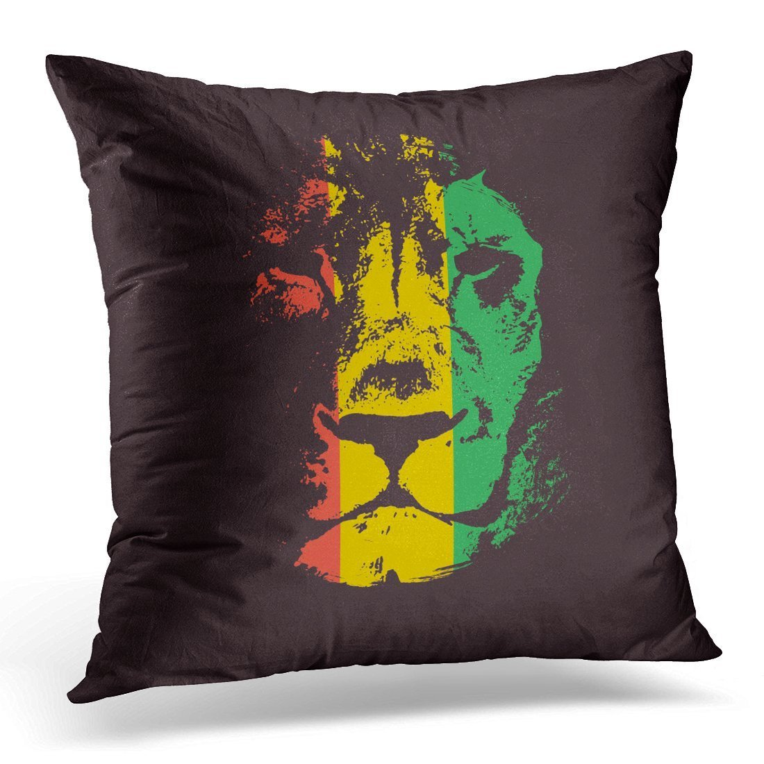 Amazon Com Spxubz Black Reggae Rasta Green Lion Jamaica Decorative