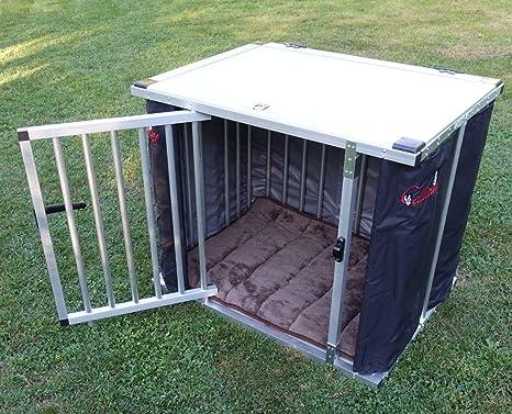 Callieway® Plegable/Plegable Aluminio dogbox/Perros Box/Jaula de ...