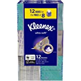 Kleenex Ultra Soft Facial Tissues - Cube Boxes (12 Pack, 65 tissues)