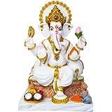 Divine Gifts Ganesh Marble Idol | Marble Statue | Murti for Pooja Room | Idols Home Decor