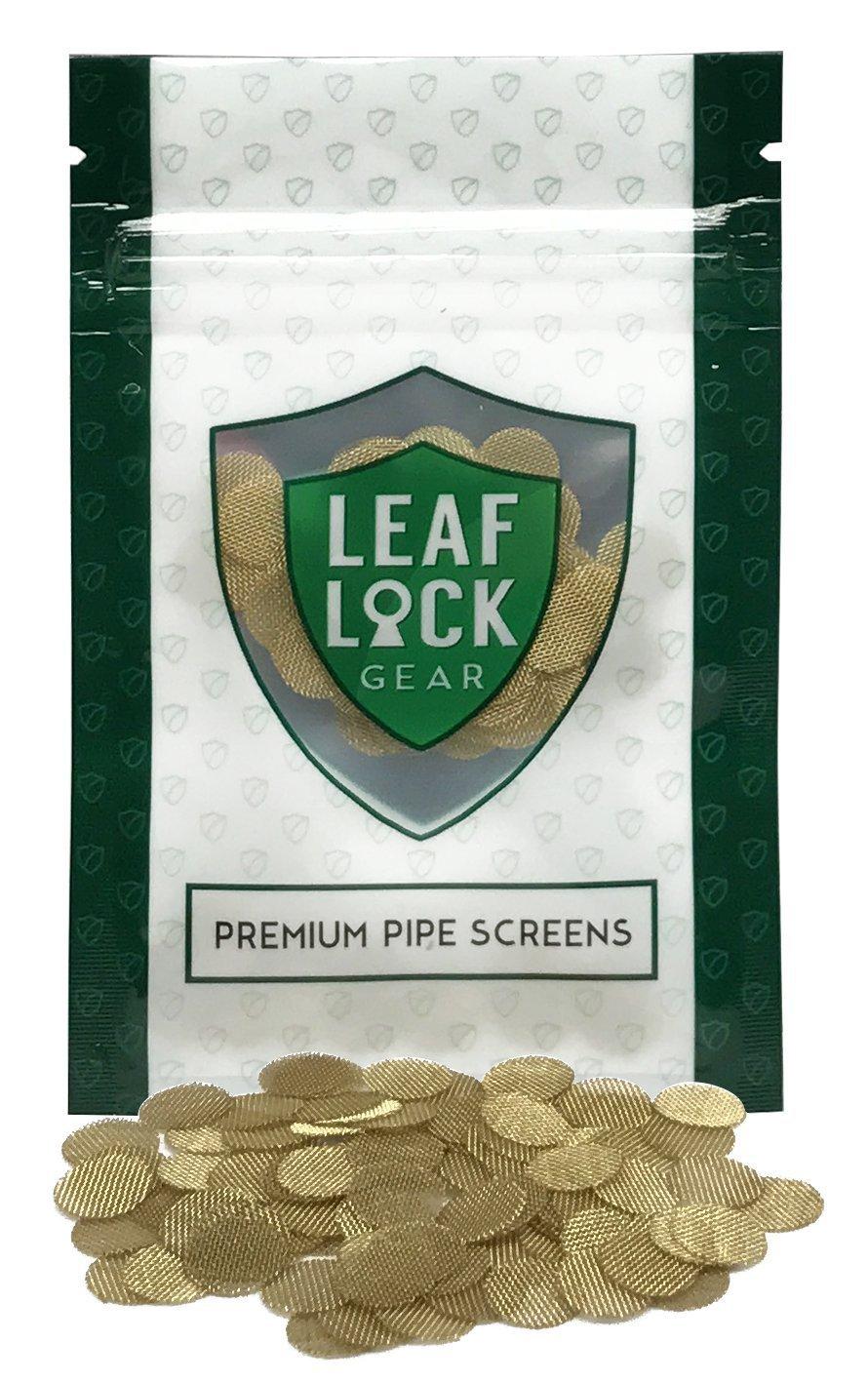 Leaf Lock Gear Premium Brass Tobacco Pipe Screen Filters - 3/8'' (0.375) (250) by Leaf Lock Gear