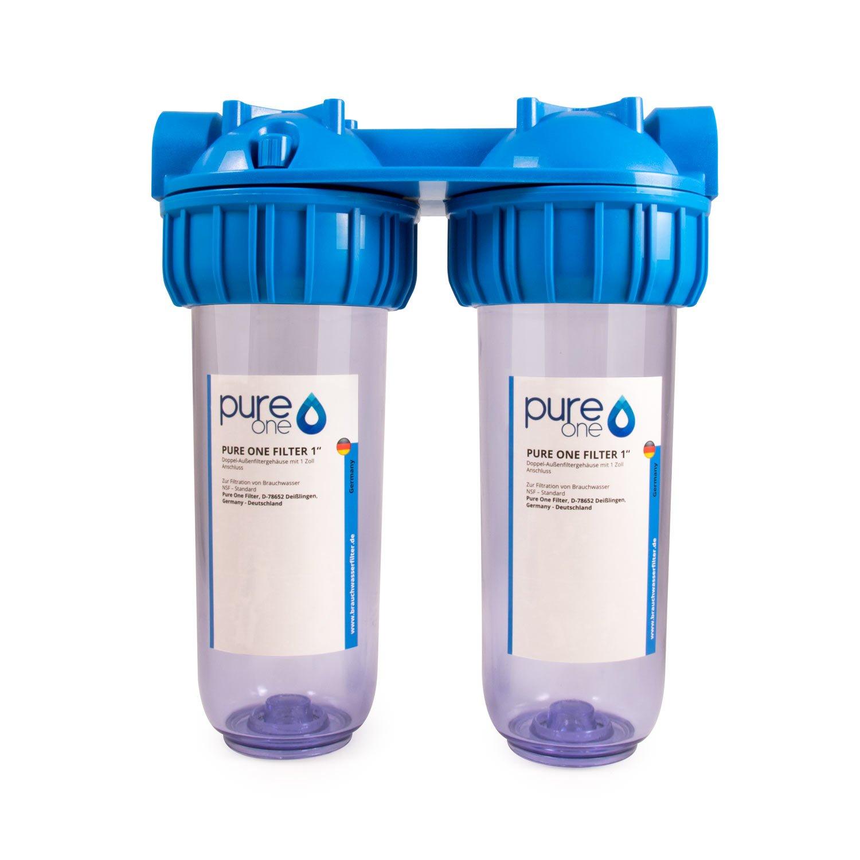 2 niveles de filtrado de 10 pulgadas. Suavizador de agua o cal. Litio intercambiador Resin. Carcasa de filtro con AK Resin cartucho de filtros.