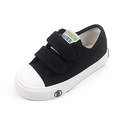 cd8850aa6ab Toddler Kids Boys Girls Canvas Sneaker Adjustable Strap Slip On Little Kid  Lightweight Runner Loafer Tennis