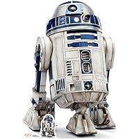 Star Cutouts Ltd R2-D2 (El último Jedi) Corte, cartón, Multicolor, 97 x 67 x 97 cm