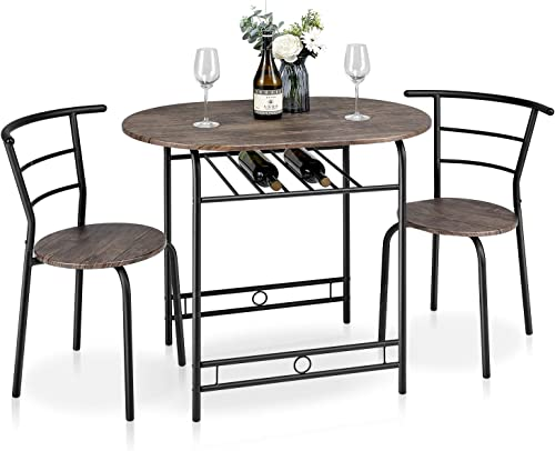 Kealive 3 Piece Compact Dining Bistro Table Set