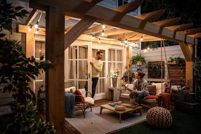 Philips bombilla WarmGlow LED de filamento (forma de pera), efecto vintage, casquillo gordo E27, 8.5 W, 806 lúmenes, luz blanca cálida regulable: Amazon.es: Iluminación