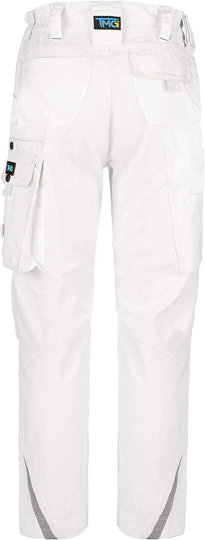 pantalones largos para hombre con bolsillos y reflectores Blanco 50 color negro blanco o gris TMG/® Elegance Pantalones de trabajo para hombre
