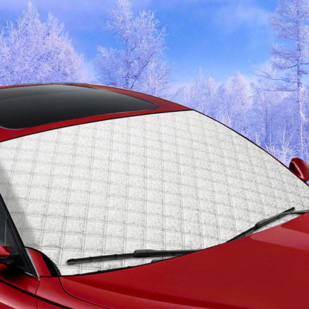 HXLONG Windscreen cover,Windschutzscheiben Schnee Abdeckung, Frost Schirm Abdeckung Wind Schirm Frost und Eis-Schutz, Eis Sonne Frost und Wind-Beweis im alles Wetter 146 x 92 cm