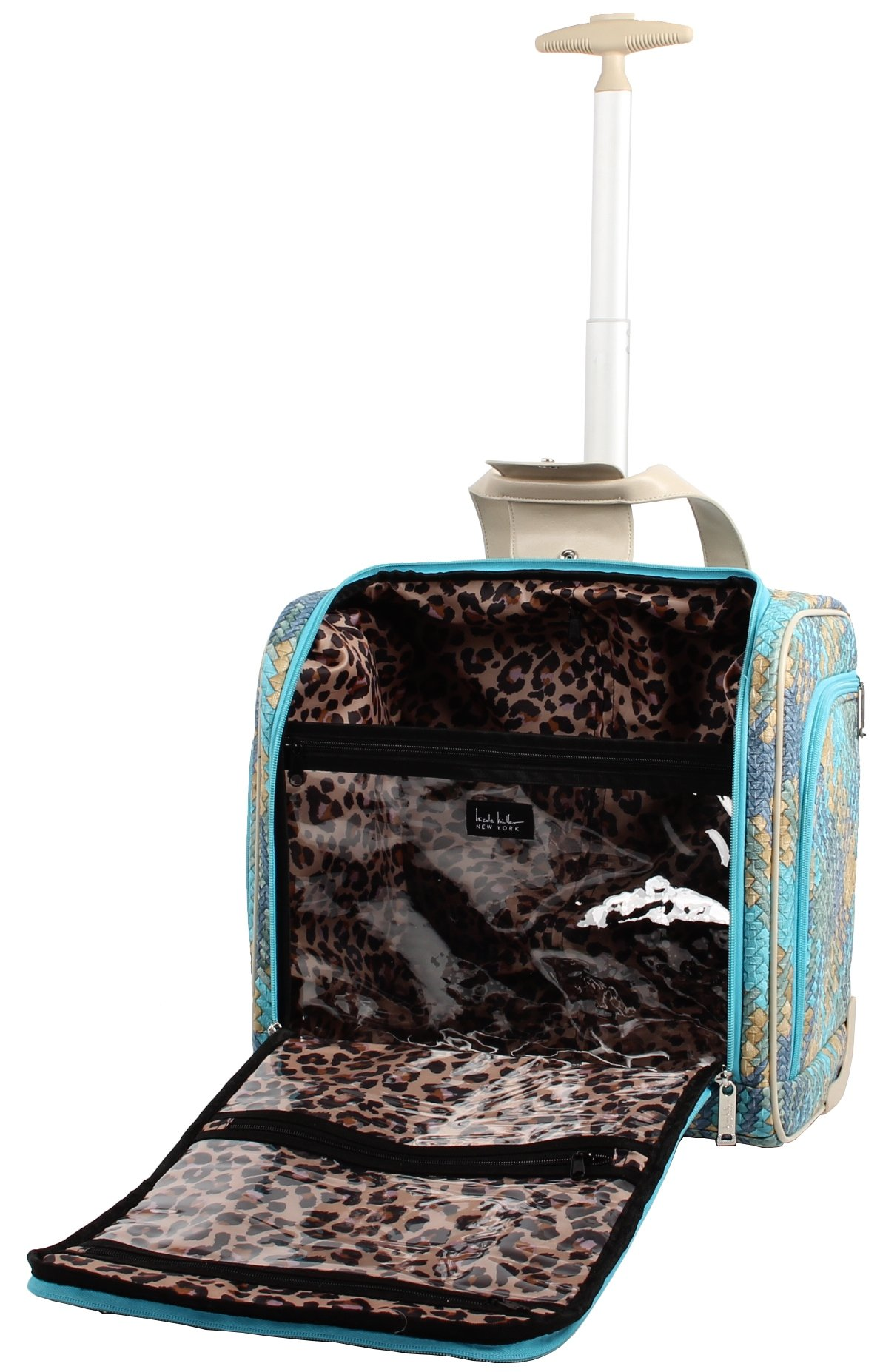 Nicole Miller Taylor Collection 15'' Under Seat Bag (Woven Teal) by Nicole Miller (Image #4)