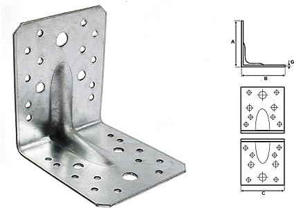 Stabilco Lot de 25 /équerres de montage dangle pour angle large 70 x 70 x 55 mm 2 mm