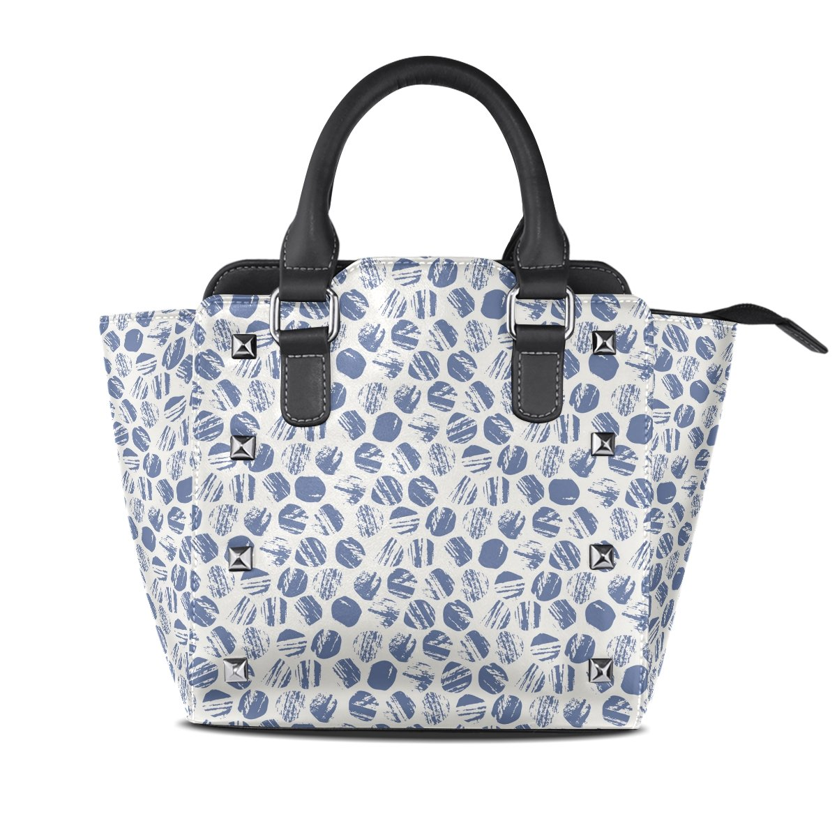 Womens Genuine Leather Hangbags Tote Bags Floral Pattern Purse Shoulder Bags