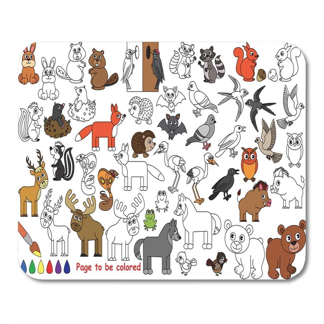 Mouse Pads Animal Salvaje para Colorear El Libro para ...